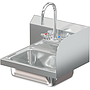 COMAL 14 X 10 X 5 HANDSINK WITH WALL FAUCET END SPLASH RIGHT