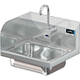 COMAL 14 X 10 X 5 HANDSINK WITH WALL ELECTRONIC FAUCET END SPLASH LEFT